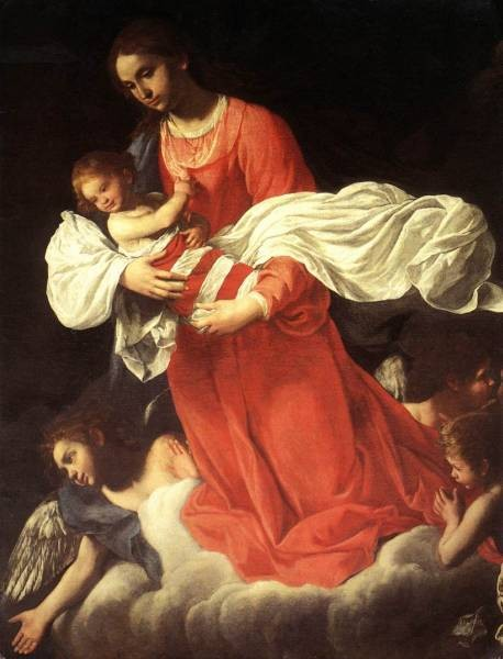 The Virgin And The Child With Angels